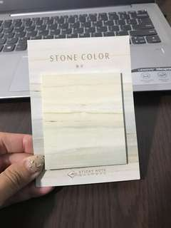 Sand Marble Stone Colour Post It Notepad Memo