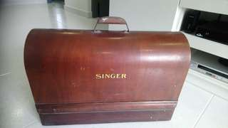 Singer antique sewing machine box