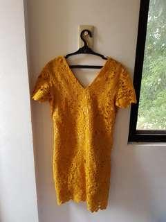 Celeste Mustard Dress