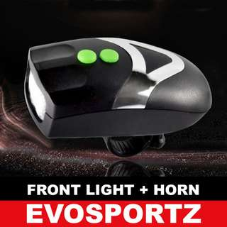 Bicycle / Scooter Front Light with Horn