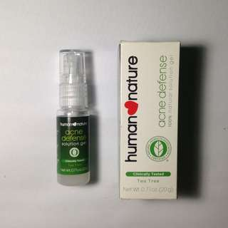Human Nature Tea Tree Acne Defense Solution Gel