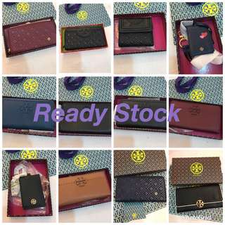 Ready Stock Original Tory Burch women wallet purse purse pouch card holder lanyard furla kate Spade bonia Micheal kors
