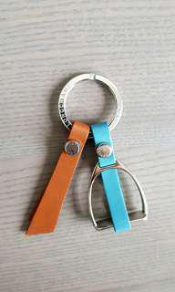 Longchamp Saddle Stirrup Keychain / Bag Charm