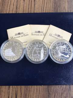 S185 - France 1998 Football Silver Proof Coins