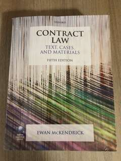 Contract Law: Texts, Cases and Materials (fifth edition)