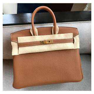 Authentic Hermes Birkin 26 Gold Ghw