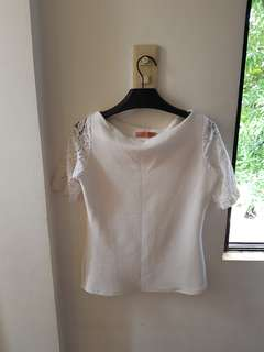 Celeste White Lace Blouse Small