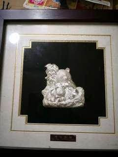 🚚 大陸熊貓紀念章999純銀