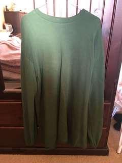 ASOS GREEN BALLOON SLEEVE OVERSIZED JUMPER DRESS PERFECT CONDITION