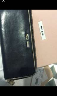 Miu Miu leather wallet