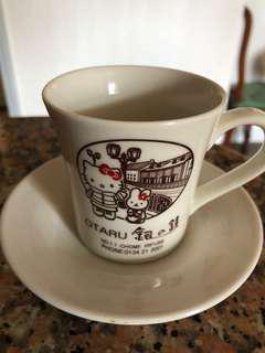 日本銀之鐘Hello Kitty有耳陶瓷咖啡杯 套裝 連盒