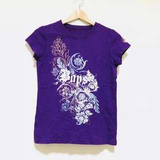 🚚 圖騰紫色上衣