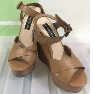 Wedge/ Heels (Brown - 5 inches tall)