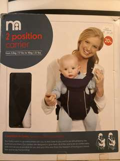Mothercare 2 position carrier - New in box