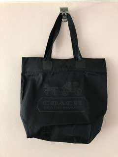Coach Black Nylon Gym Tote/Baby Bag
