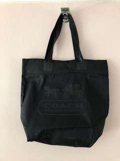 Coach Black Nylon Gym Tote/Baby Bag