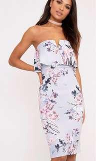 Pretty Little Thing Strapless Midi Dress (12)