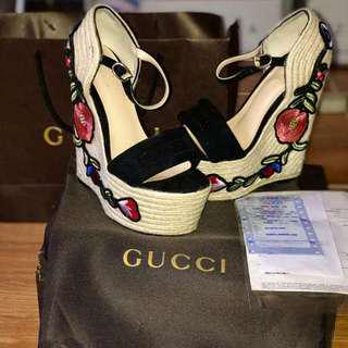 Gucci Wedge Espadrille Authentic