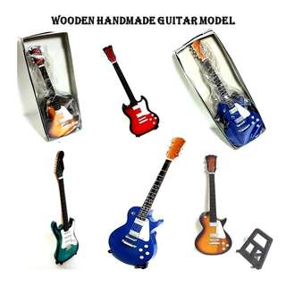 Miniature assorted guitar model in  quality Wood