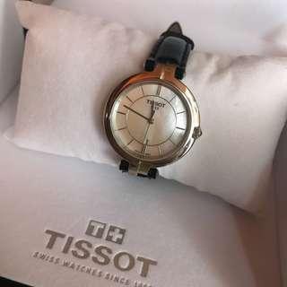 Tissot 皮帶 手錶 有保養 全套齊