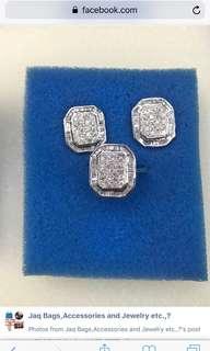 set 14karat gold with diamonds