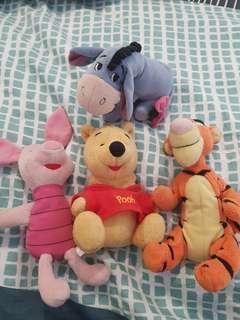 Winnie the pooh beanie bears
