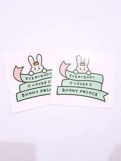 EXO Suho Snowflakeboy Bunny Prince exhibition sticker