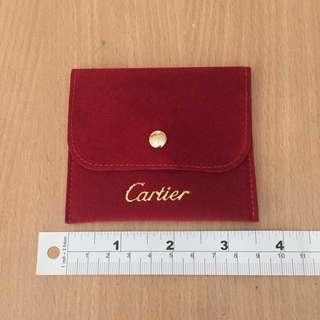 [包郵] 全新 Cartier 卡地亞 紅色絲絨 手飾袋仔 (細)