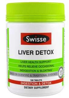 Swisse Liver Detox,180粒裝。