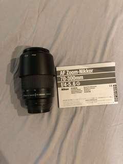 Nikon 70-300mm 4.5-5.6 G AF Lens