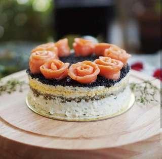 Caviar cake