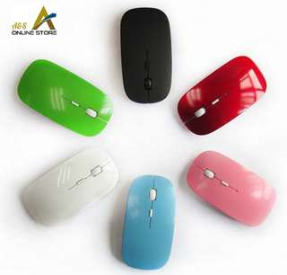 Ultra Thin Optical Wireless Mouse With 2.4G Receiver