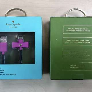Authentic kate spade charger and sync lightning cable