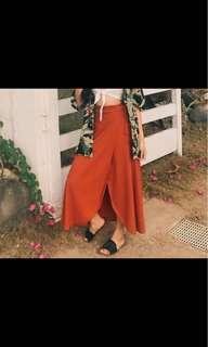 Summer long skirt with slit