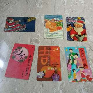 Used Phone cards - Christmas and Lunar New Year series