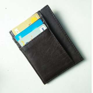 Card Holder / Dompet Kartu Kulit Warna Cokelat