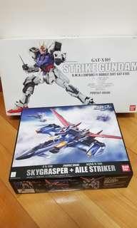 PG GAT-X105 Strike Gundam & PG FX-550+AQM/E-X01 Skygrasper