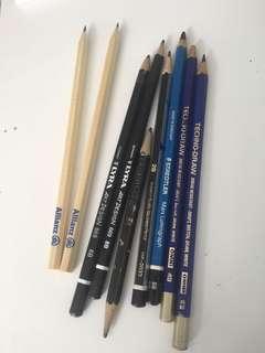 2B 4B 6B 8B pencil