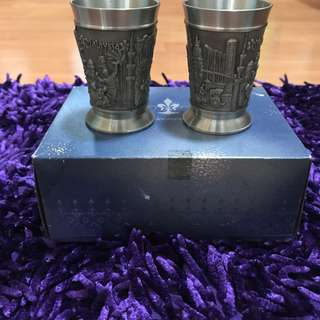 Malaysian Pewter - Pair of Cups