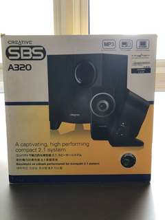 Creative A320 speaker with Subwoofer
