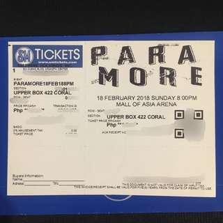 PARAMORE TICKET