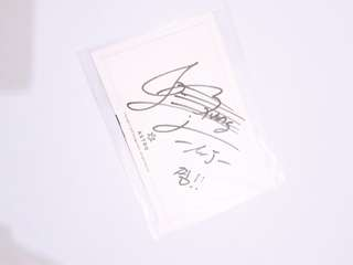 ASTRO MJ Myungjun sign postcard