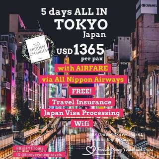 5 DAYS ALL IN TOKYO JAPAN 2018 TOUR PACKAGE (PART I)