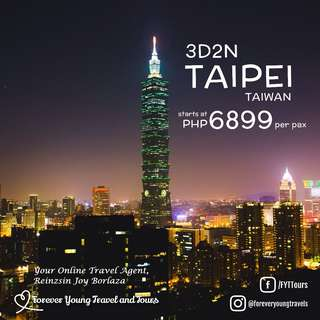 TAIPEI TAIWAN 3D2N FREE AND EASY 2018 TOUR PACKAGE