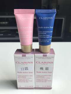 Clarins multi active day and night cream