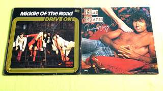 MIDDLE OF THE ROAD . drive on ● MAC DAVIS . midnight crazy. ( buy 1 get 1 free )  vinyl record