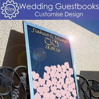🚚 Custom Wedding GuestBooks -Specially handcrafted to suit your style for your big wedding!