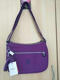 100%全新kipling紫色中袋