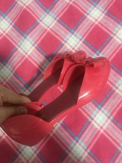 Size 7 Melissa Pink Jelly Shoes