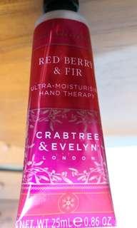 CRABTREE & EVELYN Red Berry & Fir extra moisturising hand cream
